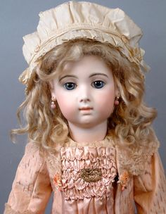 ~48 HOUR Half Price Sale!!~ Exquisite French Blond Hand Tied Human from kathylibratysantiques on Ruby Lane
