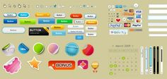 Fresh and Useful Free PSD Web Elements