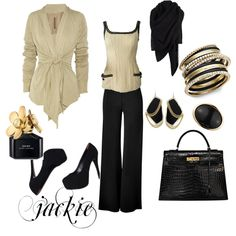 Black and tan....dressing it up <3