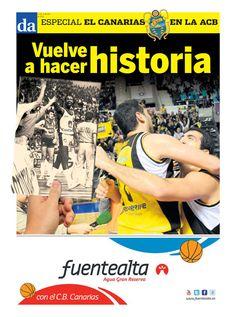 Portada del suplemento especial dedicado al ascenso del Iberostar Canarias a la Liga ACB #CanariasACB #VamosCanarias