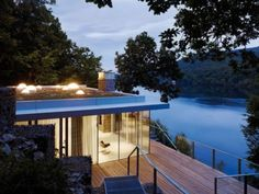 Outstanding lake house in germany by lhvh architecture