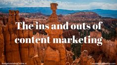 'The ins and outs of content marketing.' In this blog, I explain what content marketing is, why it is important and how it works. Find the answers here: http://budgetvertalingonline.nl/business/ins-outs-content-marketing/
