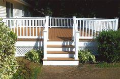 houses with trex decking | trex decking white vinyl railings 2