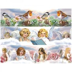 """Zauberfolien """"Himmlische Engel"""", Schrumpffolien für Ø10cm, 6 Stück"""