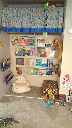 Reading Nook for Kids! Great way to encourage and value reading at an early age!