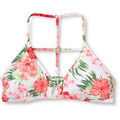 Women's Strappy Bralette Bikini Top - Xhilaration™ : Target ($13) ❤ liked on Polyvore featuring swimwear, bikinis, bikini tops, swim suits, strappy bikini, strappy bathing suit, strap bikini and swim tops