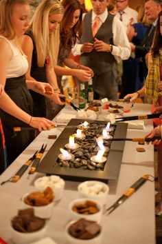 ... Your Own S'mores Bar at a Wedding | Receptions, Wedding and S mores