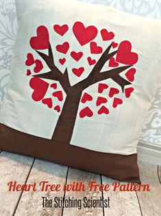 Heart Tree Pillow || The Stitching Scientist