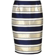 Malene Birger Balenia striped skirt ($305) ❤ liked on Polyvore