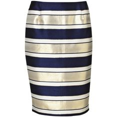 Malene Birger Balenia striped skirt ($305) ❤ liked on Polyvore