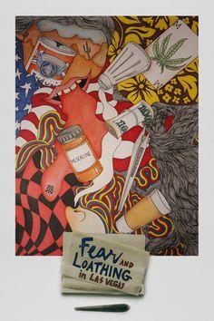 Fear and loathing in Las Vegas (A-Z) by Maria Delgado, via Behance