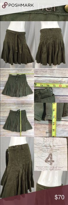 💛Size 4 Anthro hei hei Army Green Pleated Skirt Measurements are in photos. Normal wash wear, no flaws. C2  I do not comment to my buyers after purchases, due to their privacy. If you would like any reassurance after your purchase that I did receive your order, please feel free to comment on the listing and I will promptly respond.   I ship everyday and I always package safely. Thank you for shopping my closet! Anthropologie Skirts Circle & Skater