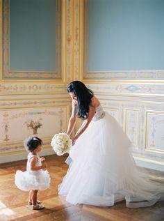 #flower-girl  Photography: Peaches And Mint - peachesandmint.com Wedding Dress: Monique Lhuillier - www.moniquelhuillier.com/