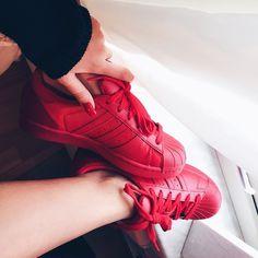 Red Adidas Superstar