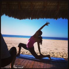 Yoga on the beach with Ivonne Lopez of Shanti Yoga Los Cabos