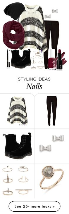 """""""Untitled #215"""" by live-as-you on Polyvore featuring Dr. Martens, Marc by Marc Jacobs, Topshop, Athleta, Essie and Elizabeth Arden"""
