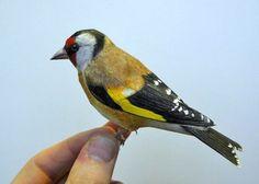 Incredibly Lifelike Papercraft Bird Models by Johan Scherft.   laughingsquid.com