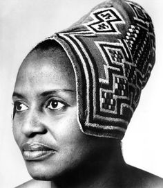 South African singer Miriam Makeba Poses for a portrait session circa 1970