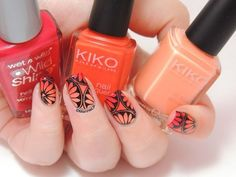Gradient flower nails