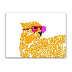 Cool Cheetah with sun glasses on - Fine Art Print, leopard, nursery decorating ideas, baby nursery, cheetah