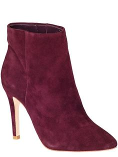 Adore this color for fall / winter... #shoes #booties #merlot