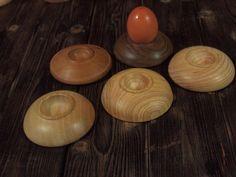 Coquetier en bois Artisanal, Decoration, Tea Lights, Candles, Kitchen, Tableware, Dark Walnut, Egg Holder, Handstand