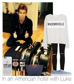"""""""In An Americain Hotel With Luke"""" by hazzgirl03 ❤ liked on Polyvore"""