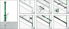 Resultado de imagem para detalhe desenho guarda-corpo em vidro Presentation, Detail, Projects, University, Verandas, Stairs, Chop Saw, Swimming Pools, Log Projects