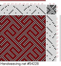 draft image: Plate No. 8 Weave No. 30, A Treatise on Designing and Weaving Plain and Fancy Woolen Cloths, A. A. Baldwin, 10S, 10T