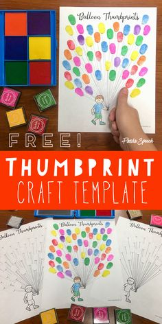 FREE Thumbprint page! Fun balloons!