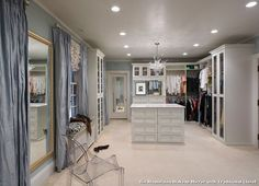 large bathroom mirror illuminated with traditional closet with a walk in closet design - Large Bathroom Mirror
