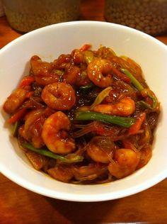 """""""Коробочка"""" с креветками в остро-сладком соусе. рецепт, кулинария, коробка, острое, азия, вкусно, длиннопост"""