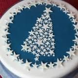 christmas cake simple decoration - Google Search