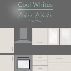 30 Cabinet Colors that will Rejuvenate your Kitchen Grey Kitchen Cabinets, Painting Kitchen Cabinets, White Cabinets, Nail Swag, Wall Colors, House Colors, Eider White, Cabinet Paint Colors, Villa