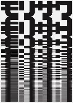 Japanese Poster: Morisawa. John Maeda. 1996