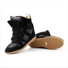 Aliexpress.com : Buy Free Drop Shipping Isabel Marant 2013 Hot Star Genuine Leather Height Increasing Casual color match Sneakers Women Fashion Wedge from Reliable Sneakers suppliers on Savvy shoes $87.98