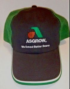 1345c55a10745 Details about VTG Asgrow Seeds Mesh Snapback Trucker Hat Pioneer Farming  Agriculture Beans