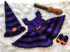 Free Witch Costume Crochet Pattern | Baby Witch Costume Crochet Pattern