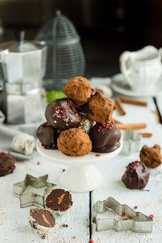 Truffles with peanutbutter