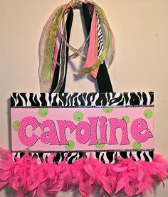 Personalized Handpainted Canvas Wall Art 8x16 by TheDrawingBoard, $35.00