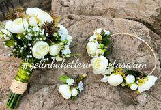 Gelin Buketi & Gelin Tacı & Damat Yaka Çiçeği Elifçe Tasarimlar & Biridal Bouguet