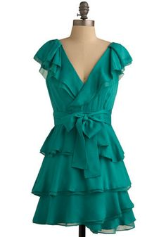 Veridian Verity Dress from Modcloth- the perfect summer wedding dress- paired with some nude heels of course $79.00