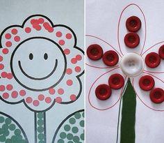 Button craft idea for kids | funnycrafts
