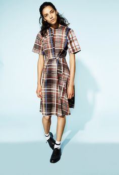The perfect plaid dress for fall? We found it at Preen Line
