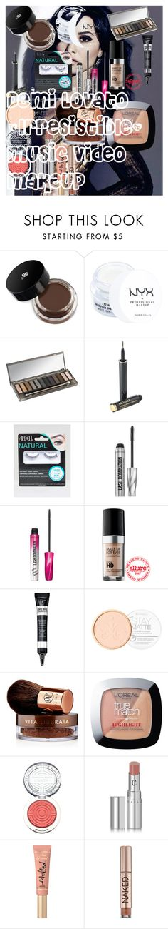 """Demi Lovato Makeup """"Irresistible"""" Music Video Makeup by oroartye-1 on Polyvore featuring beauty, Vita Liberata, MAKE UP FOR EVER, Urban Decay, Lancôme, Chantecaille, Clinique, Too Faced Cosmetics, It Cosmetics and Bare Escentuals"""