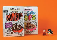 Hubbards Kids Cereals packaging designed by Coats Design Limited.