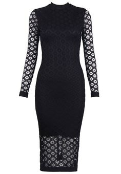 Dream it Wear it - Long Sleeve Crochet Midi Bandage Dress Black, $135.22 (http://www.dreamitwearit.com/long-sleeve-crochet-midi-bandage-dress-black/)
