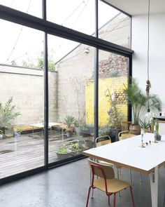 Loft with large bay window House Design, Indoor Outdoor Living, Pretty House, Interior Architecture, House Styles, New Homes, Home Deco, Bay Window, Living Room Door