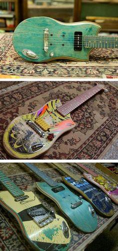 Recycled Skateboard Guitars EZEQUIEL GALASSO (ARGENTINA)