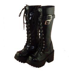 Details zu Punk Gothic Lolita Stiefel Plateau boots Schuhe high heel retro  Rock  DE  fb71056a5f
